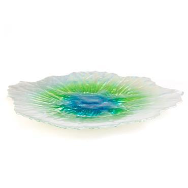 """Platter Aqua Green 14"""""""