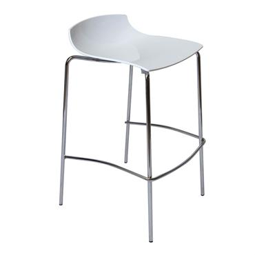Milano High Stool White with low back