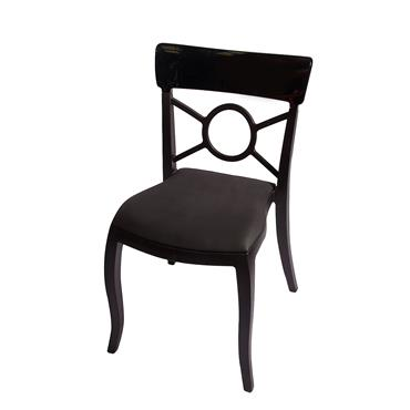 Milano Chair Black (Leather Pad)