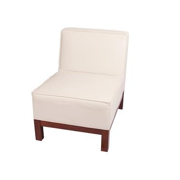"Milan White Single Seater (22""/55cm)"