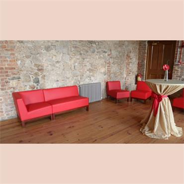 """Milan Red  Sofa 2 Seater (44""""/110cm)"""