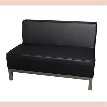 "Milan Black Sofa 2 Seater (44""/110cm)"