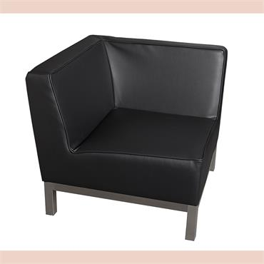 "Milan Black Corner Unit (28""/71cm)"