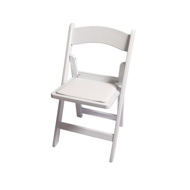 White folding chair (Resin)