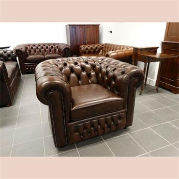 Chesterfield Brown Armchair **NEW** (100 w x 90 d x 80 h)