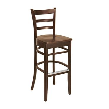 Wooden High Back Stool 115cm high