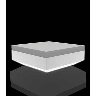 "Venetian LED Ottoman square 100cm/40"" sq. x 40cm/16"" h (wireless remote control)"
