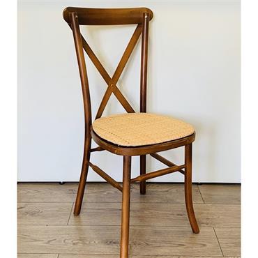 Cross Back Chair - Walnut (Rattan or Ivory pad)