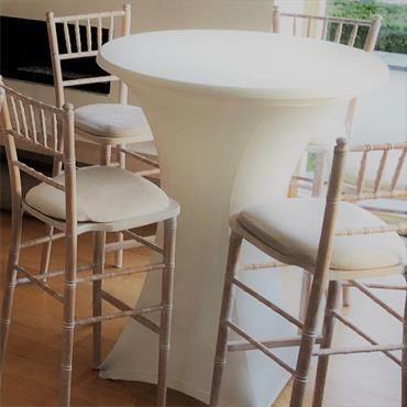 Chivari Stool Limewash with Ivory Pad