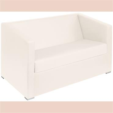 "Miami Sofa - 2 seater white 121cm/48"" wide"