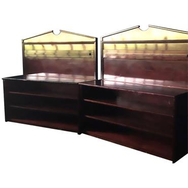 Mahogany Back Bar 6' (on wheels)