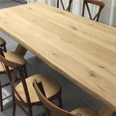 Oak Table 244 x 91 cm (8' x 3') with Wooden Legs