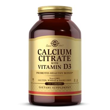 Solgar Calcium Citrate With Vitamin D3 240 veg tab