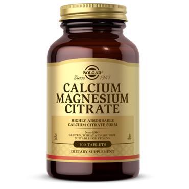 Solgar Calcium Magnesium Citrate 100 tablets