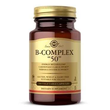 "Solgar B-Complex ""50""High Potency 100 veg capsules"