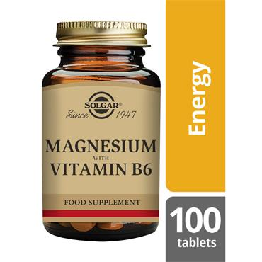 Solgar Magnesium with B6 100 tablets