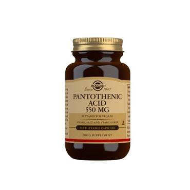 Solgar Pantothenic Acid 550mg 50 vegetable caps