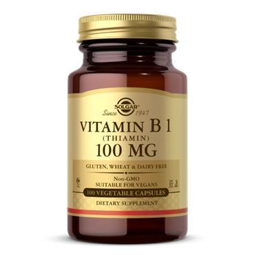 Solgar Vitamin B1(Thiamin) 100mg 100 veg caps