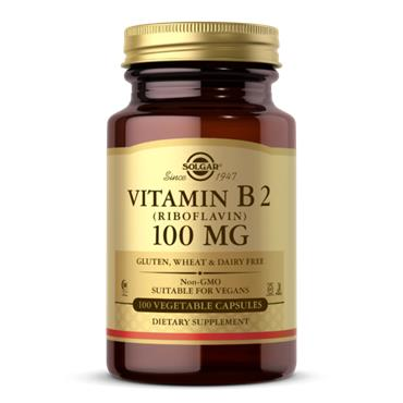 Solgar Vitamin B2 100mg 100 veg capsules