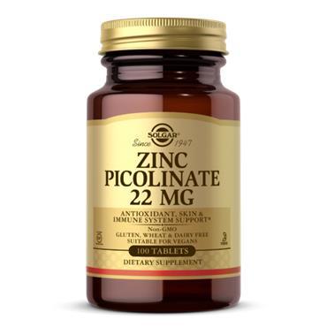 Solgar Zinc Picolinate 22mg 100 tabs