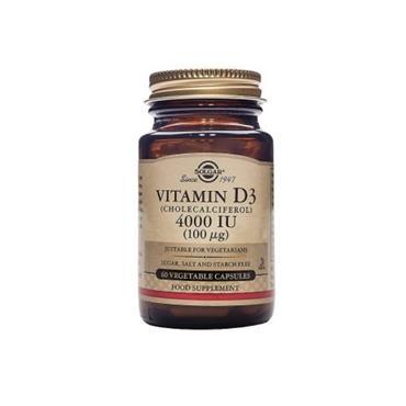 Solgar Vitamin D3 4000iu(100ug) 60 veg capsules
