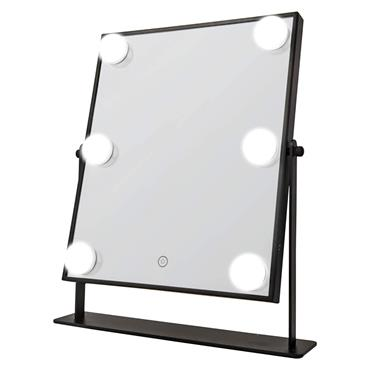 Danielle L.E.D Mirror With Touch Dimmer Black