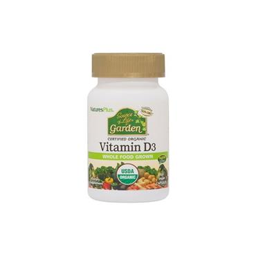 Natures Plus Source of Life Vitamin D3 2500 60 veg