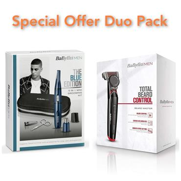 Babyliss Beard Trimmer & 5 in 1 Groom Kit Duo Pack