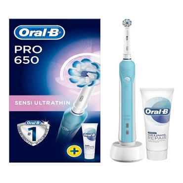 Oral B Power PRO 650 Sensi Ultra Thin Set