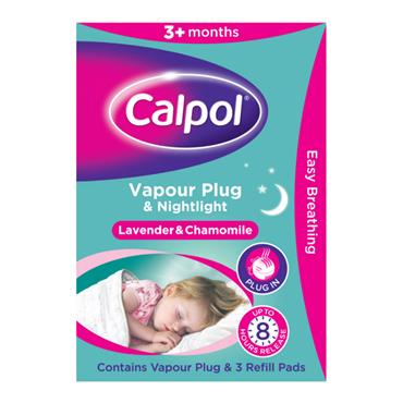 Calpol Vapour Plug Nightlight & 3 Refill Pads