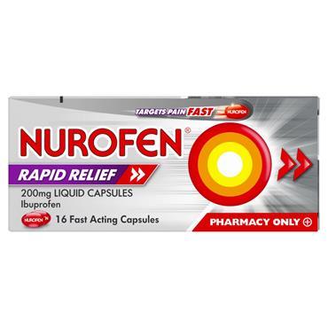 Nurofen Ibuprofen Rapid Relief  200mg 16 Capsules