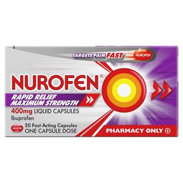 Nurofen Ibuprofen Rapid Relief 400mg 20 Capsules