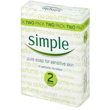 Simple Twin Pack Soap 2X125g