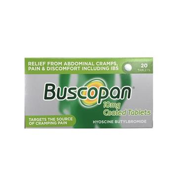 Buscopan 10mg Coated Tablets 20 Pack