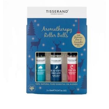 Tisserand Blue Reindeer Roller Ball Set 3x10ml