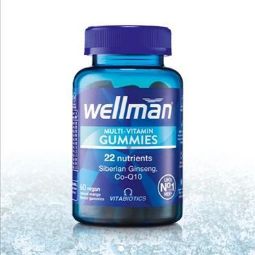 Wellman MultiVitamin Gummies Vegan 60 Orange