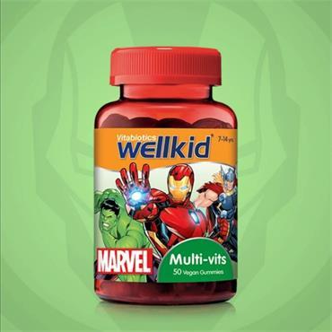 WellKid Marvel Multi Vits Vegan 50 Soft Jellies