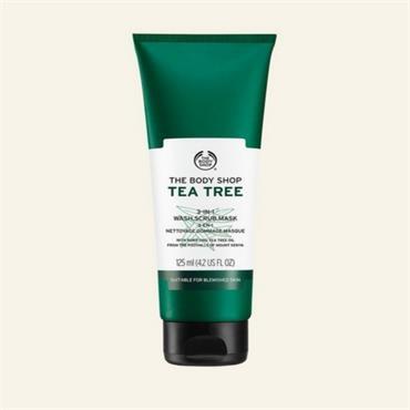 The Body Shop 3 in 1 Tea Tree Wash Scrub & Mask