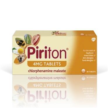 Piriton 4mg Chlorphenamine Maleate 30 Pack