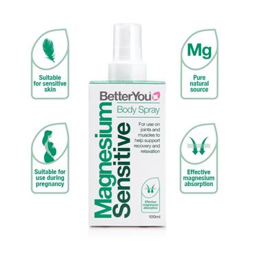 Better You Magnesium Sensitive Body spray 100ml