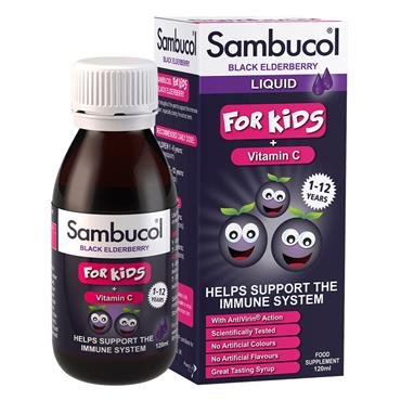 Sambucol Black Elderberry For Kids (1-12yrs) 120ml