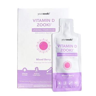 Liposomal Vitamin D Zooki Mixed Berry 20 x 15ml