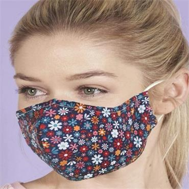 Eco Chic Black Ditsy Face Cover