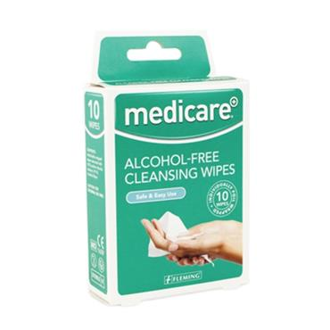Medicare Alcohol Free Cleansing Wipes 10 Pack