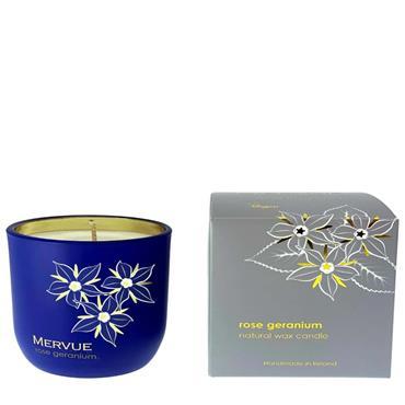Mervue Rose Geranium Natural Wax Candles 180g