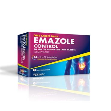 Emazole Control Esomeprazole 20mg Tablets 7 Pack