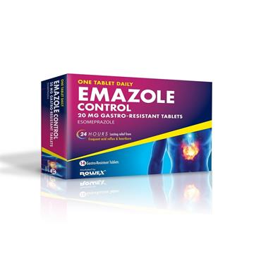 Emazole Control Esomeprazole 20mg Tablets 14 Pack