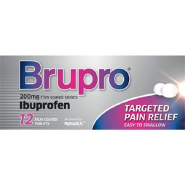 Brupro Ibuprofen 200mg Film-Coated Tablets 12 Pack