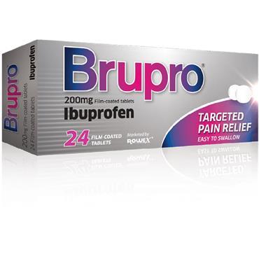 Brupro Ibuprofen 200mg Film-Coated Tablets 24 Pack