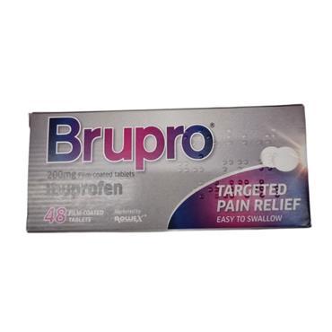 Brupro Ibuprofen 200mg Film-Coated Tablets 48 Pack
